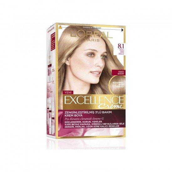 Loreal Paris Excellence Creme Saç Boyası 8.1 Koyu Sarı Küllü