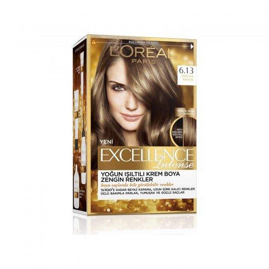 Loreal Paris Excellence Intense Saç Boyası 6.13 Mocha Kahve
