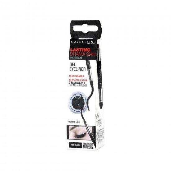 Maybelline Dayanıklı Siyah Eyeliner - Eyestudio Lasting Drama Gel Eyeliner 24H 01 Intense Black