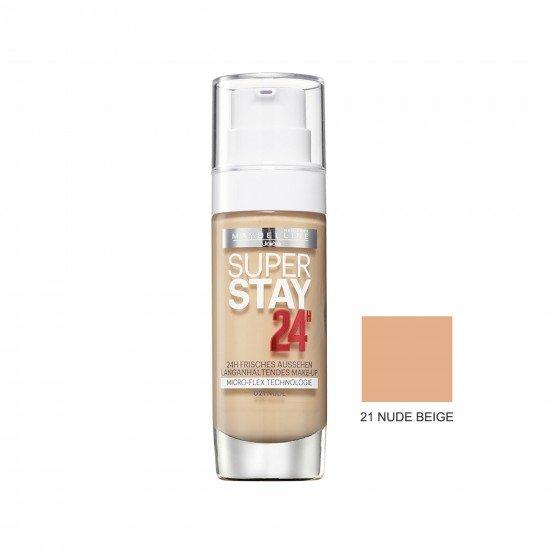 Maybelline Uzun Süre Kalıcı Fondöten - Super Stay 24H Foundation 21 Nude Beige