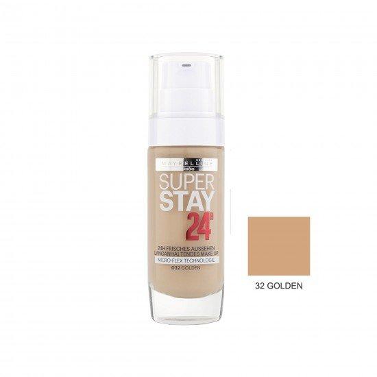 Maybelline Uzun Süre Kalıcı Fondöten - Super Stay 24H Foundation 32 Golden