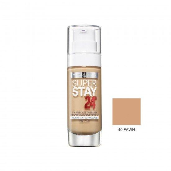 Maybelline Uzun Süre Kalıcı Fondöten - Super Stay 24H Foundation 40 Fawn