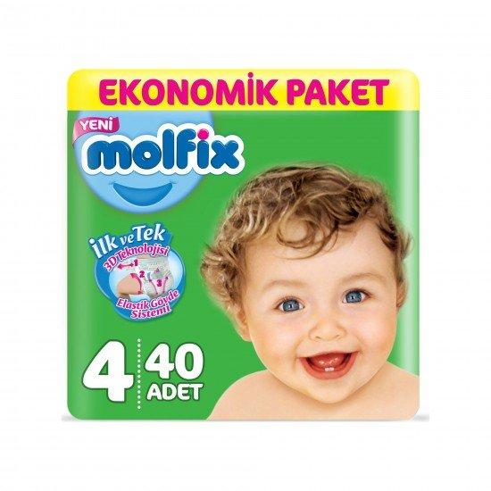 Molfix Bebek Bezi 4 Beden Maxi Ekonomik Paket 40lı