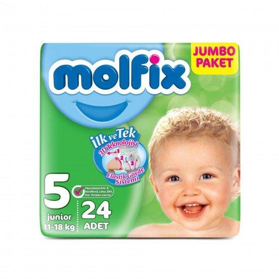 Molfix Bebek Bezi 5 Beden Junior Jumbo Paket 24 Adet