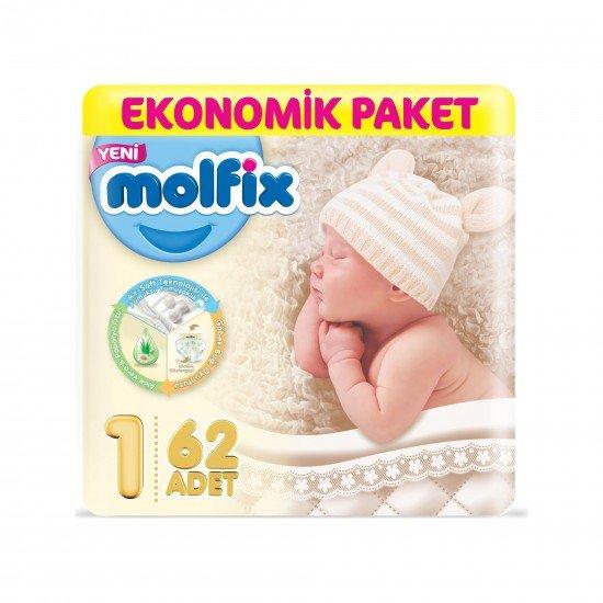 Molfix Bebek Bezi Yenidoğan Jumbo 1 Beden Paket 62li