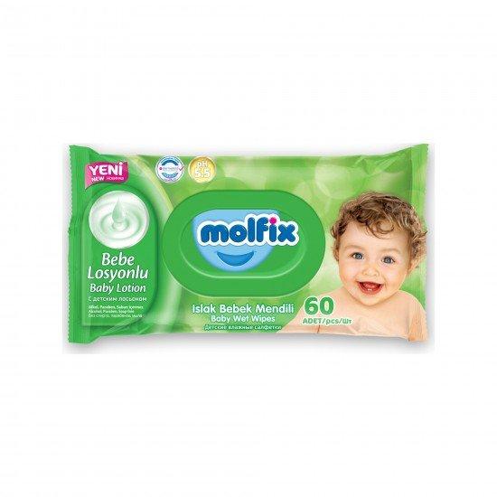 Molfix Islak Havlu Bebe Losyonlu 60lı