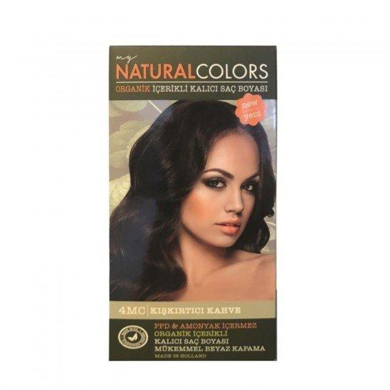 My Natural Colors Organic Kit Saç Boyası 4MC Kışkırtıcı Kahve 50 ml