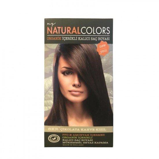 My Natural Colors Organic Kit Saç Boyası 6KR Çikolata Kahve Kızılı 50ml