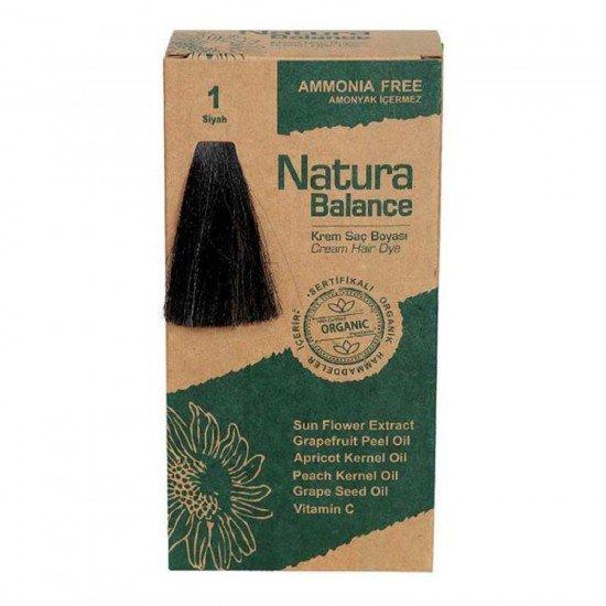 Natura Balance Organik Saç Boyası 1 Siyah