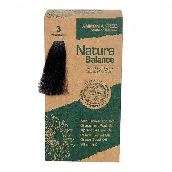 Natura Balance Organik Saç Boyası 3 Koyu Kahve