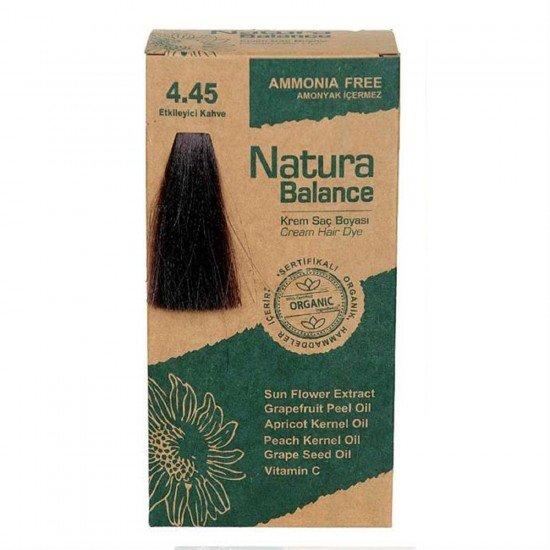 Natura Balance Organik Saç Boyası 4.45 Etkileyici Kahve