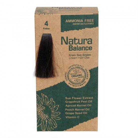 Natura Balance Organik Saç Boyası 4 Kahve