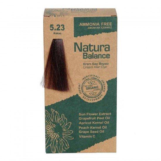 Natura Balance Organik Saç Boyası 5.23 Kakao