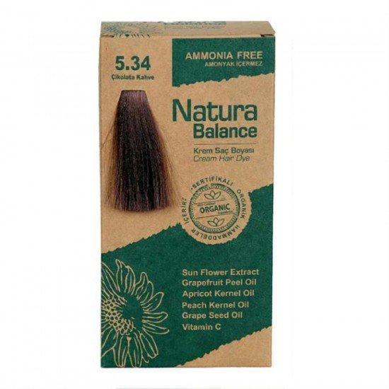 Natura Balance Organik Saç Boyası 5.34 Çikolata Kahve