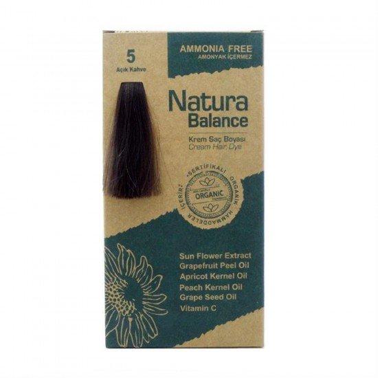 Natura Balance Organik Saç Boyası 5 Açık Kahve