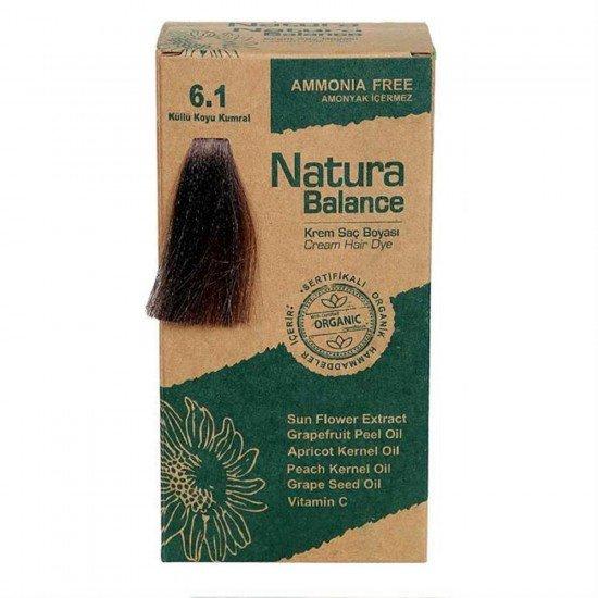 Natura Balance Organik Saç Boyası 6.1 Küllü Koyu Kumral