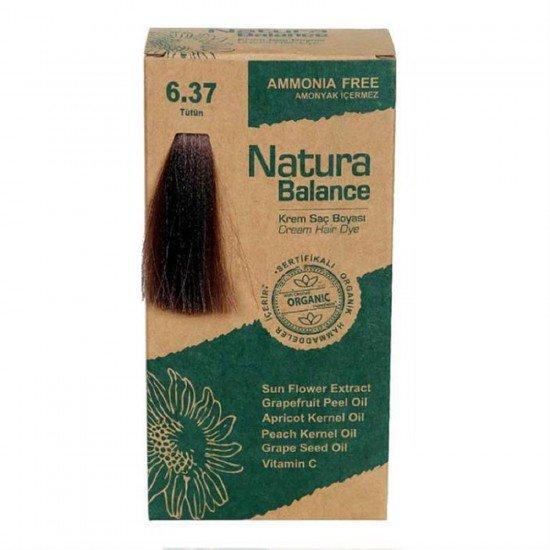 Natura Balance Organik Saç Boyası 6.37 Tütün