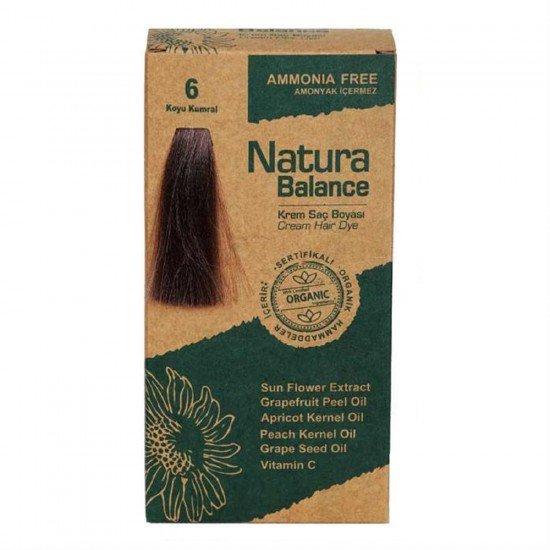 Natura Balance Organik Saç Boyası 6 Koyu Kumral