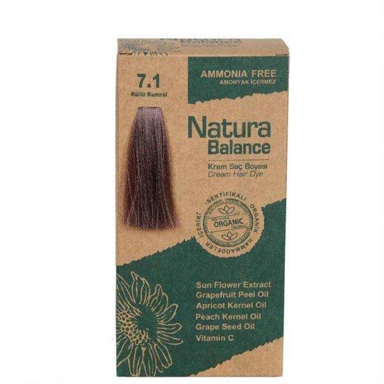 Natura Balance Organik Saç Boyası 7.1 Küllü Kumral