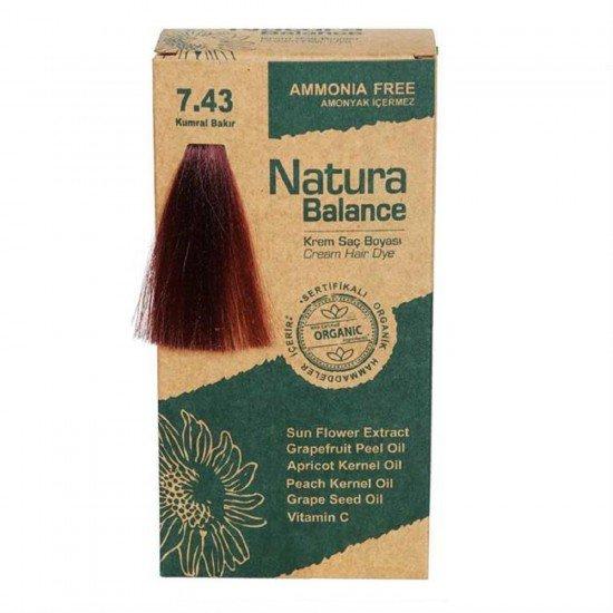 Natura Balance Organik Saç Boyası 7.43 Kumral Bakır
