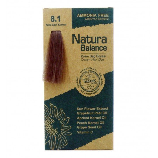 Natura Balance Organik Saç Boyası 8.1 Küllü Açık Kumral