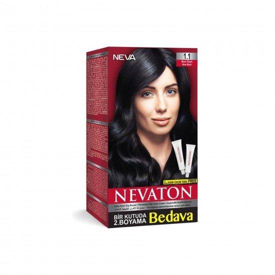 Nevaton Set Saç Boyası 1.1 Mavi Siyah