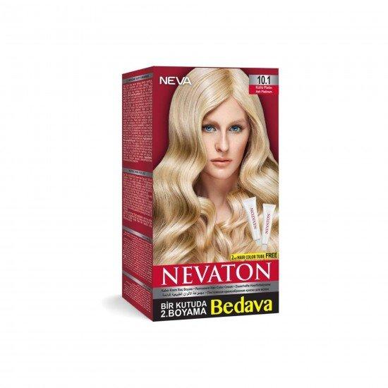 Nevaton Set Saç Boyası 10.1 Küllü Platin