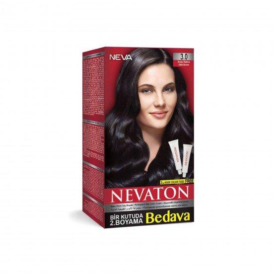 Nevaton Set Saç Boyası 3.0 Koyu Kahve