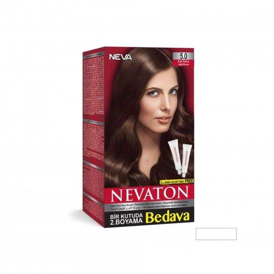 Nevaton Set Saç Boyası 5.0 Açık Kahve