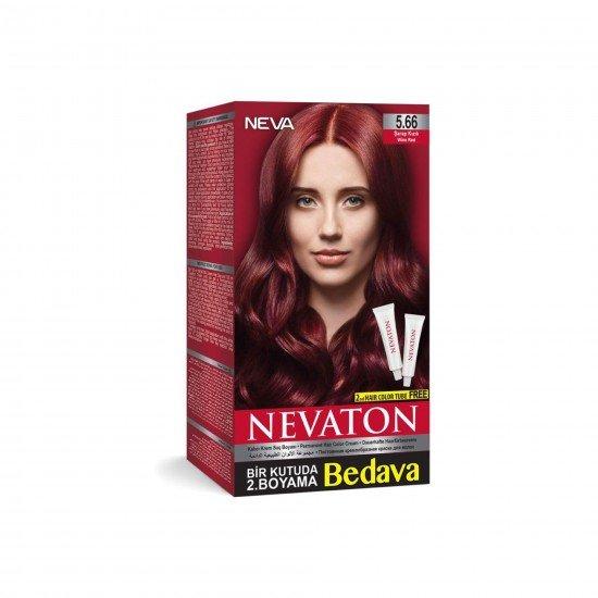 Nevaton Set Saç Boyası 5.66 Şarap Kızılı