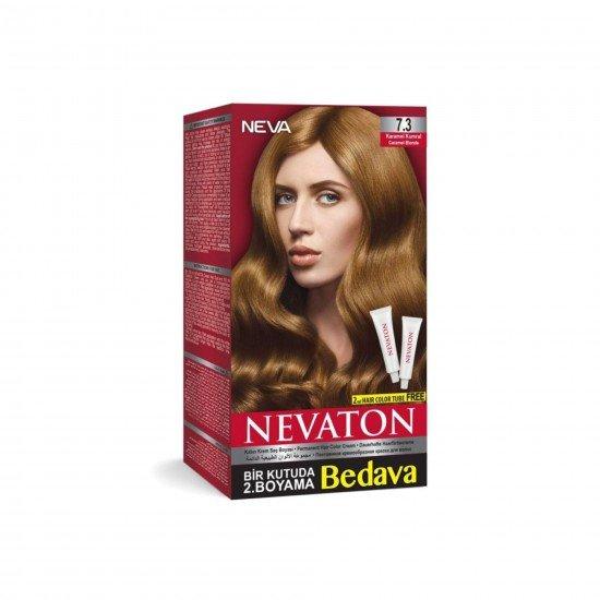 Nevaton Set Saç Boyası 7.3 Karamel Kumral