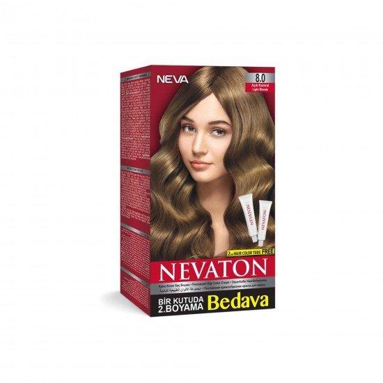 Nevaton Set Saç Boyası 8.0 Açık Kumral