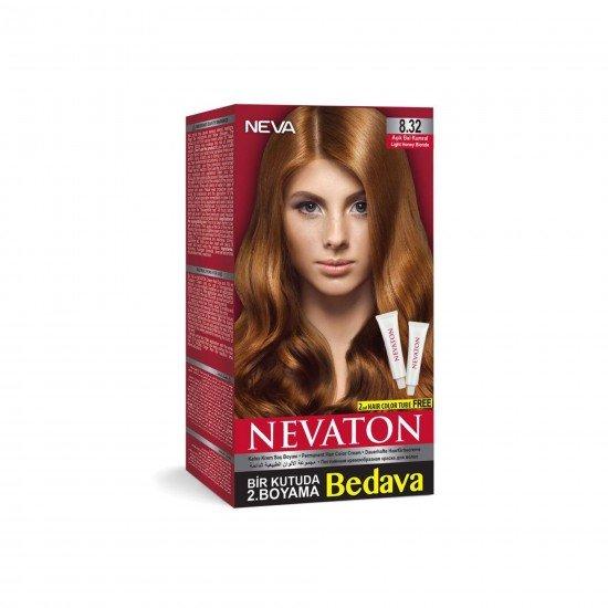 Nevaton Set Saç Boyası 8.32 Açık Bal Kumral