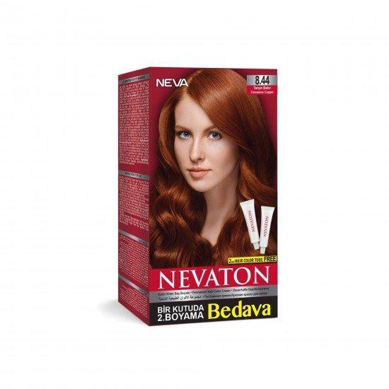 Nevaton Set Saç Boyası 8.44 Tarçın Bakır