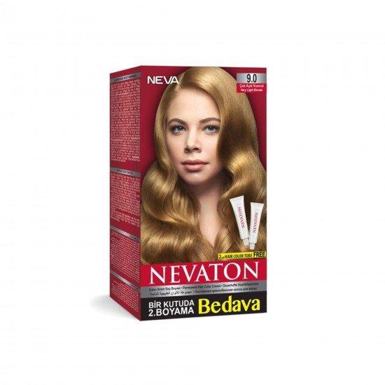 Nevaton Set Saç Boyası 9.0 Çok Açık Kumral