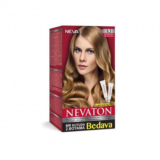 Nevaton Set Saç Boyası 9.3 Açık Altın Sarısı