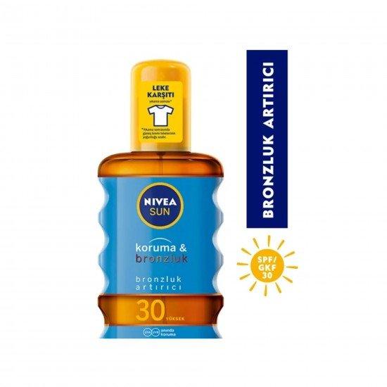 Nivea Sun Bronzluk Arttırıcı & Koruyucu Güneş Yağı Gkf 30 200 Ml