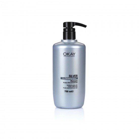 Okay Silver Renk Yenileyici Gümüş Şampuan 750 ML