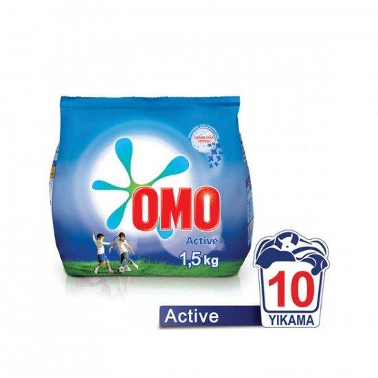 Omo Toz Çamaşır Deterjanı Active Beyaz 1,5 Kg