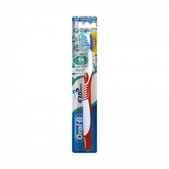 Oral-B Diş Fırçası 3 Boyutlu Beyazlık Ferah Nefes 35 Yumuşak