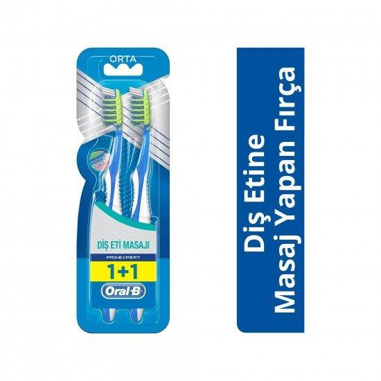 Oral-B Diş Fırçası Pro-Expert Massager 40 Orta 1 Alana 1 Bedava Paketi