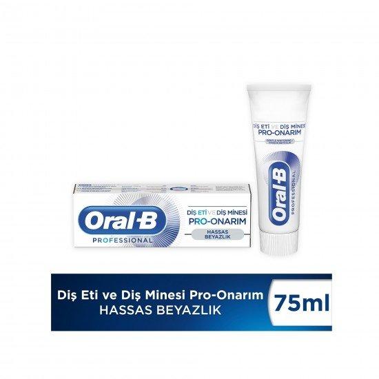 Oral-B Professional Diş Eti ve Diş Minesi Pro Onarım Hassas Beyazlık Diş Macunu 75 Ml