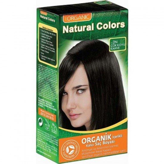 Organic Natural Colors 2N Koyu Kahve Saç Boyası