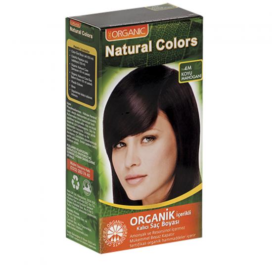 Organic Natural Colors 4M  Koyu Mahogani Saç Boyası
