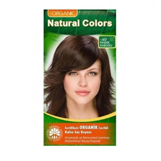 Organic Natural Colors 6D Fındık Kabuğu Saç Boyası