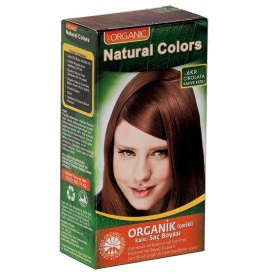 Organic Natural Colors 6KR Çikolata Kahve Kızılı Saç Boyası