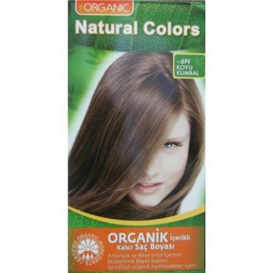 Organic Natural Colors 6N Koyu Kumral Saç Boyası