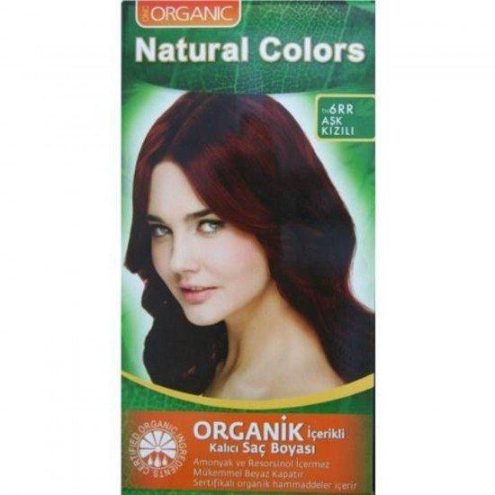 Organic Natural Colors 6RR Aşk Kızılı Saç Boyası