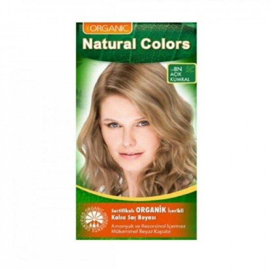 Organic Natural Colors 8N Açık Kumral Saç Boyası