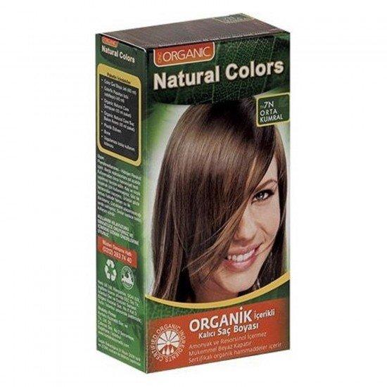 Organic Natural Colors Bitkisel Kalıcı Saç Boyası 7N Orta Kumral